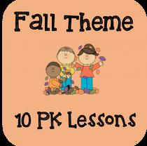 Fall Theme Preschool 10 Pack Lessons